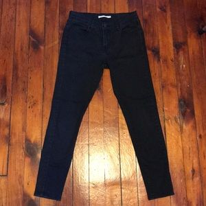 Levi's 710 Super Skinny cropped Jeans sz 29
